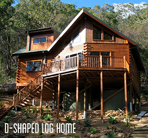 D-Shaped-Log-Home